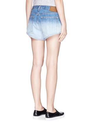 Back View - Click To Enlarge - rag & bone/JEAN - 'Marilyn' exposed pocket denim shorts