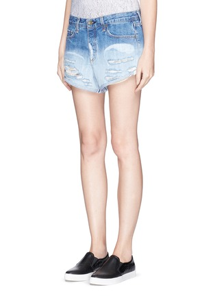 Front View - Click To Enlarge - rag & bone/JEAN - 'Marilyn' exposed pocket denim shorts