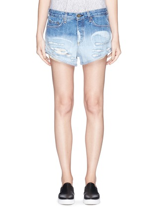 Main View - Click To Enlarge - rag & bone/JEAN - 'Marilyn' exposed pocket denim shorts