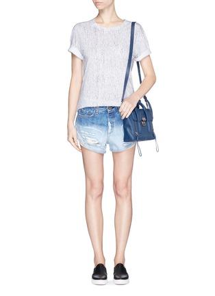 Figure View - Click To Enlarge - rag & bone/JEAN - 'Marilyn' exposed pocket denim shorts