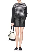 'Cynnie' perforated leather bucket bag