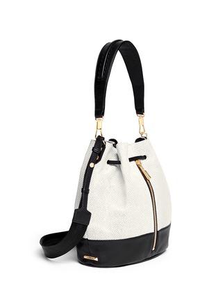 正面 -点击放大 - ELIZABETH AND JAMES - 'Cynnie' perforated leather bucket bag