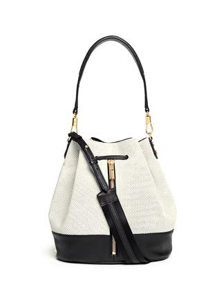 首图 - 点击放大 - ELIZABETH AND JAMES - 'Cynnie' perforated leather bucket bag