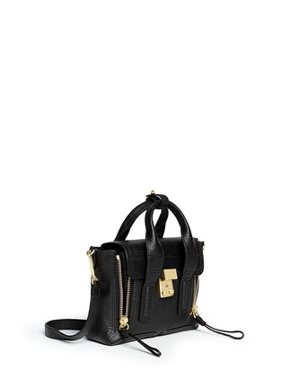 Front View - Click To Enlarge - 3.1 Phillip Lim - 'Pashli' mini grainy leather satchel