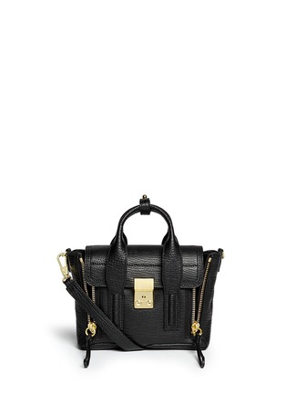 Main View - Click To Enlarge - 3.1 Phillip Lim - 'Pashli' mini grainy leather satchel