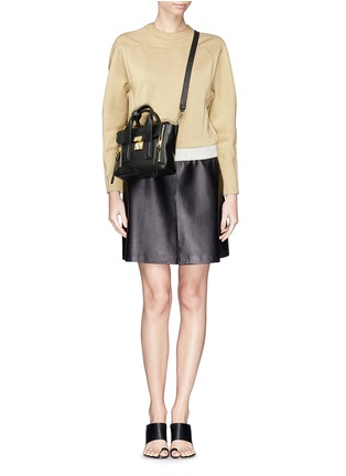 Figure View - Click To Enlarge - 3.1 Phillip Lim - 'Pashli' mini grainy leather satchel