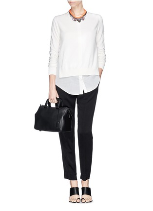 Figure View - Click To Enlarge - 3.1 Phillip Lim - 'Wednesday' small leather Boston satchel