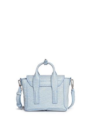 Back View - Click To Enlarge - 3.1 Phillip Lim - 'Pashli' mini grainy leather satchel
