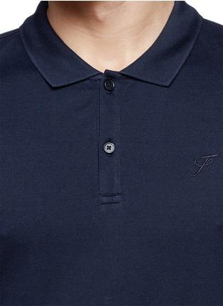 细节 - 点击放大 - FAÇONNABLE - Logo embroidery cotton piqué polo shirt