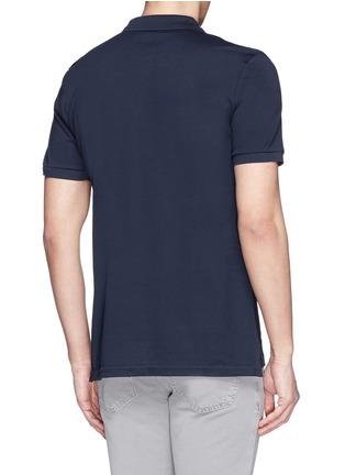背面 - 点击放大 - FAÇONNABLE - Logo embroidery cotton piqué polo shirt