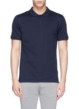 首图 - 点击放大 - FAÇONNABLE - Logo embroidery cotton piqué polo shirt