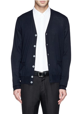 首图 - 点击放大 - FAÇONNABLE - Cable knit shoulder stripe wool cardigan