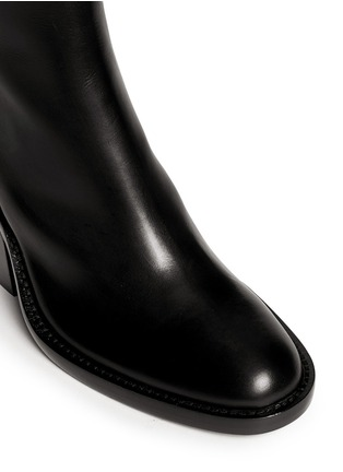 Detail View - Click To Enlarge - ANN DEMEULEMEESTER - Curve block heel leather boots