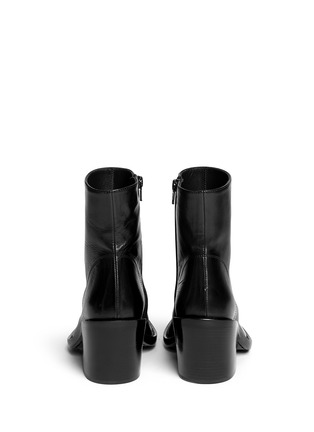 Back View - Click To Enlarge - ANN DEMEULEMEESTER - Curve block heel leather boots