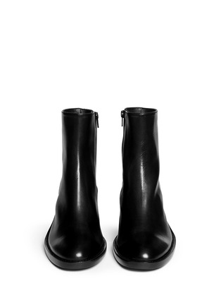 Figure View - Click To Enlarge - ANN DEMEULEMEESTER - Curve block heel leather boots