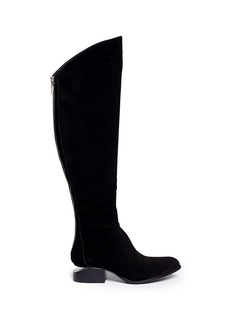 ALEXANDER WANG 'Sigrid' cut-out heel suede boots