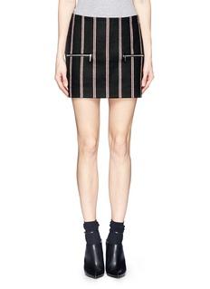 ELIZABETH AND JAMES'Raya' regimental stripe mini skirt