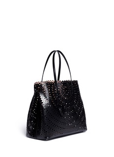 AZZEDINE ALAÏA Open top perforated leather tote