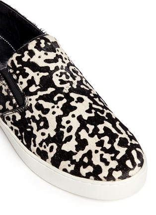 Detail View - Click To Enlarge - Michael Kors - Keaton cow hair print slip-ons