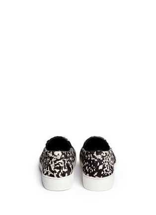 Back View - Click To Enlarge - Michael Kors - Keaton cow hair print slip-ons