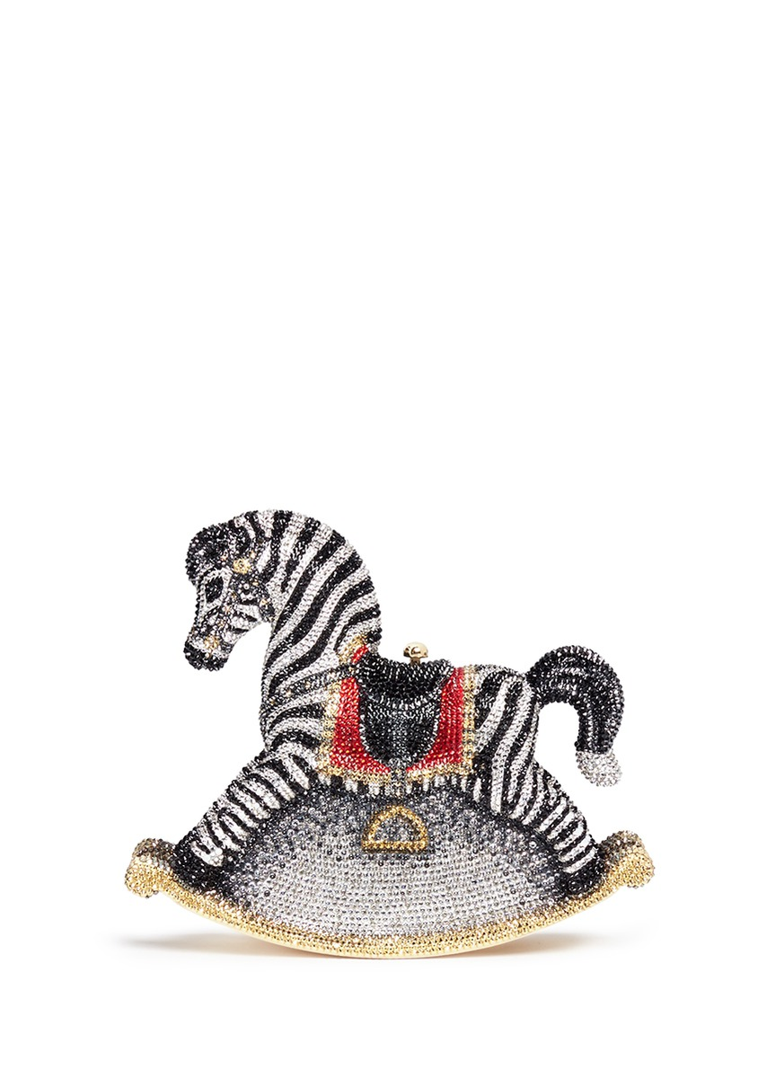 Rocking Horse Toby crystal pavé minaudière by Judith Leiber