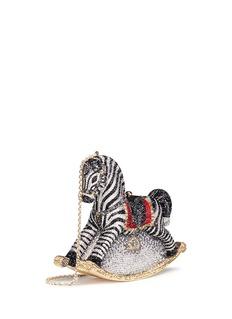 Judith Leiber'Rocking Horse Toby' crystal pavé minaudière