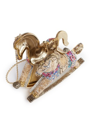 Detail View - Click To Enlarge - Judith Leiber - 'Rocking Horse Penelope' crystal pavé minaudière