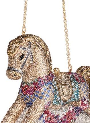 - Judith Leiber - 'Rocking Horse Penelope' crystal pavé minaudière