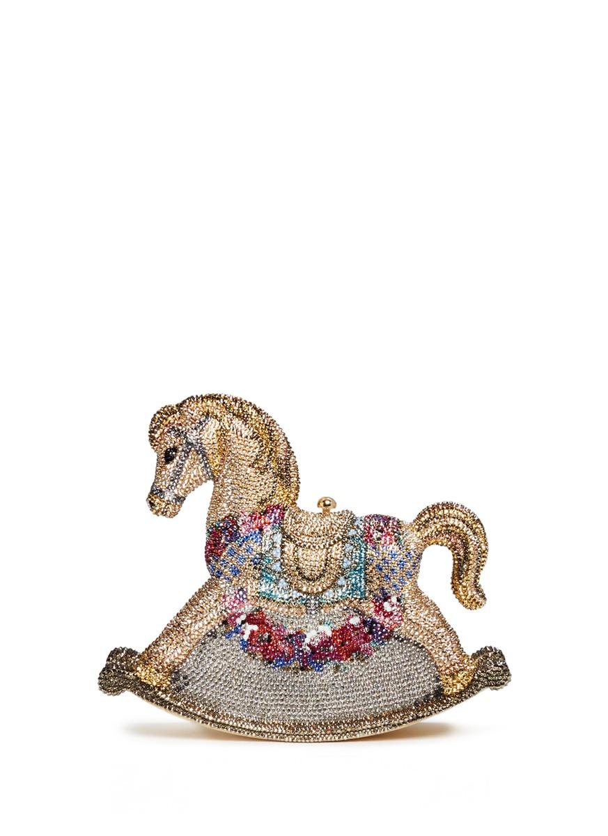 Rocking Horse Penelope crystal pavé minaudière by Judith Leiber