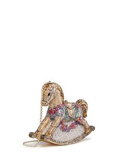 Judith Leiber'Rocking Horse Penelope' crystal pavé minaudière