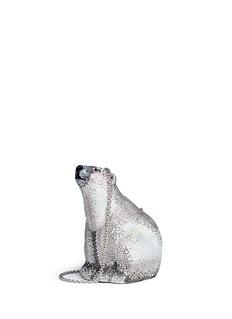 Judith Leiber'Polar Bear' crystal pavé minaudière