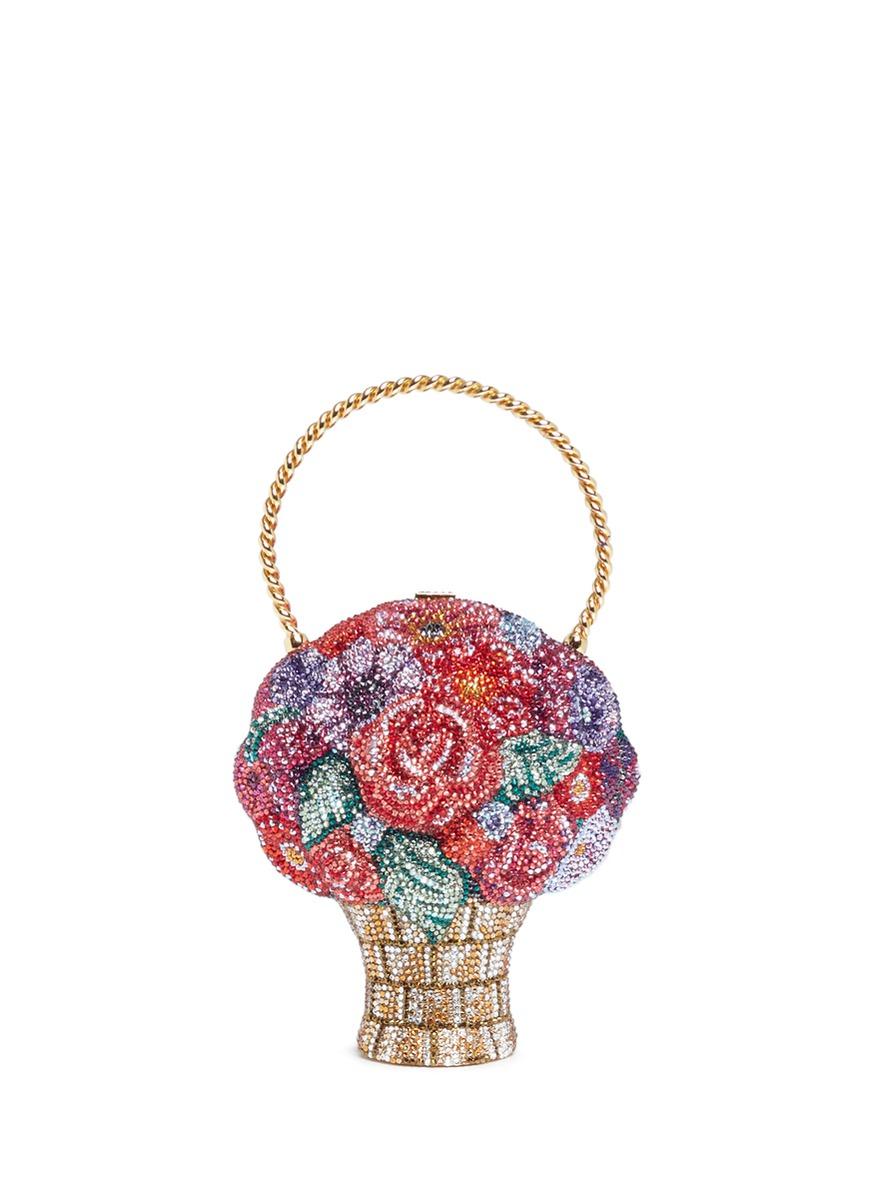 Flower Basket crystal pavé minaudière by Judith Leiber