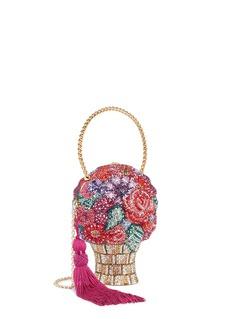Judith Leiber'Flower Basket' crystal pavé minaudière