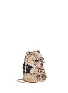 Judith Leiber'Teddy Bear Spencer' crystal pavé minaudière