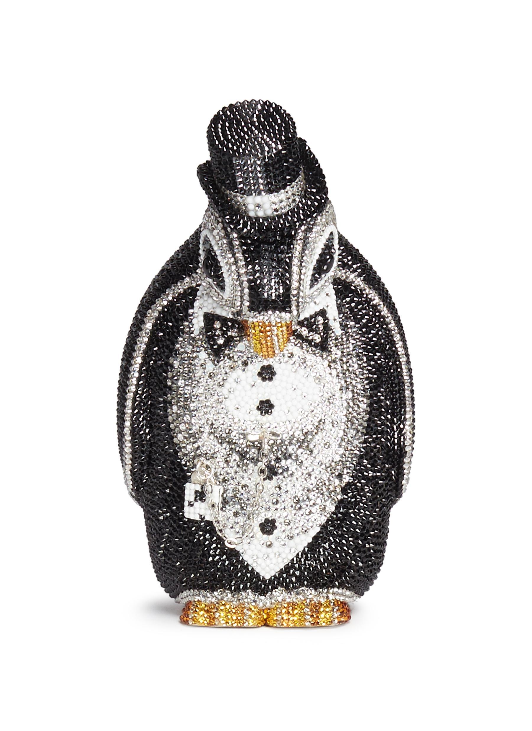 Penguin Alfred crystal pavé minaudière by Judith Leiber