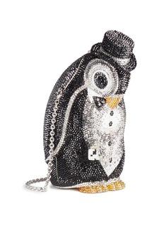 Judith Leiber 'Penguin Alfred' crystal pavé minaudière