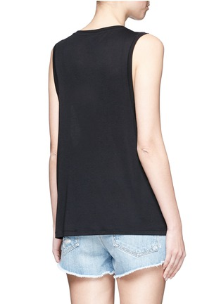 Back View - Click To Enlarge - Topshop - Logo print dropped armseye tank top