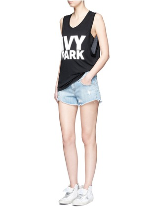 Figure View - Click To Enlarge - Topshop - Logo print dropped armseye tank top