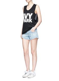 Ivy Park Logo print dropped armseye tank top