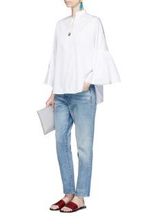 ValentinoRuffle sleeve cotton poplin shirt