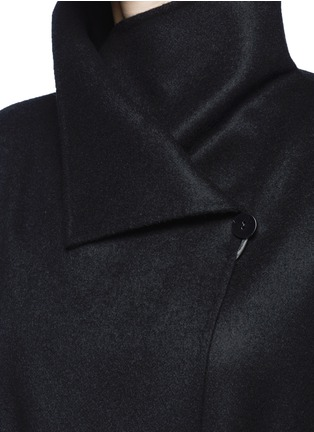 Detail View - Click To Enlarge - The Row - 'Karmen' virgin wool blend wrap front coat