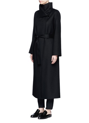Front View - Click To Enlarge - The Row - 'Karmen' virgin wool blend wrap front coat