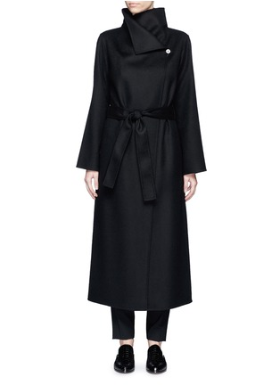 Main View - Click To Enlarge - The Row - 'Karmen' virgin wool blend wrap front coat