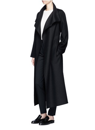 Figure View - Click To Enlarge - The Row - 'Karmen' virgin wool blend wrap front coat