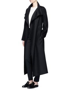 The Row'Karmen' virgin wool blend wrap front coat
