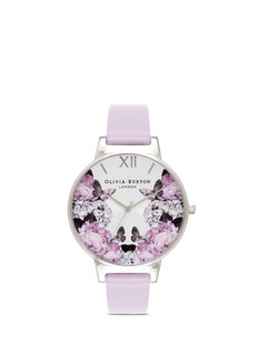Olivia Burton 'Winter Garden' floral print big dial watch