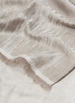 Metallic diamond jacquard cashmere scarf