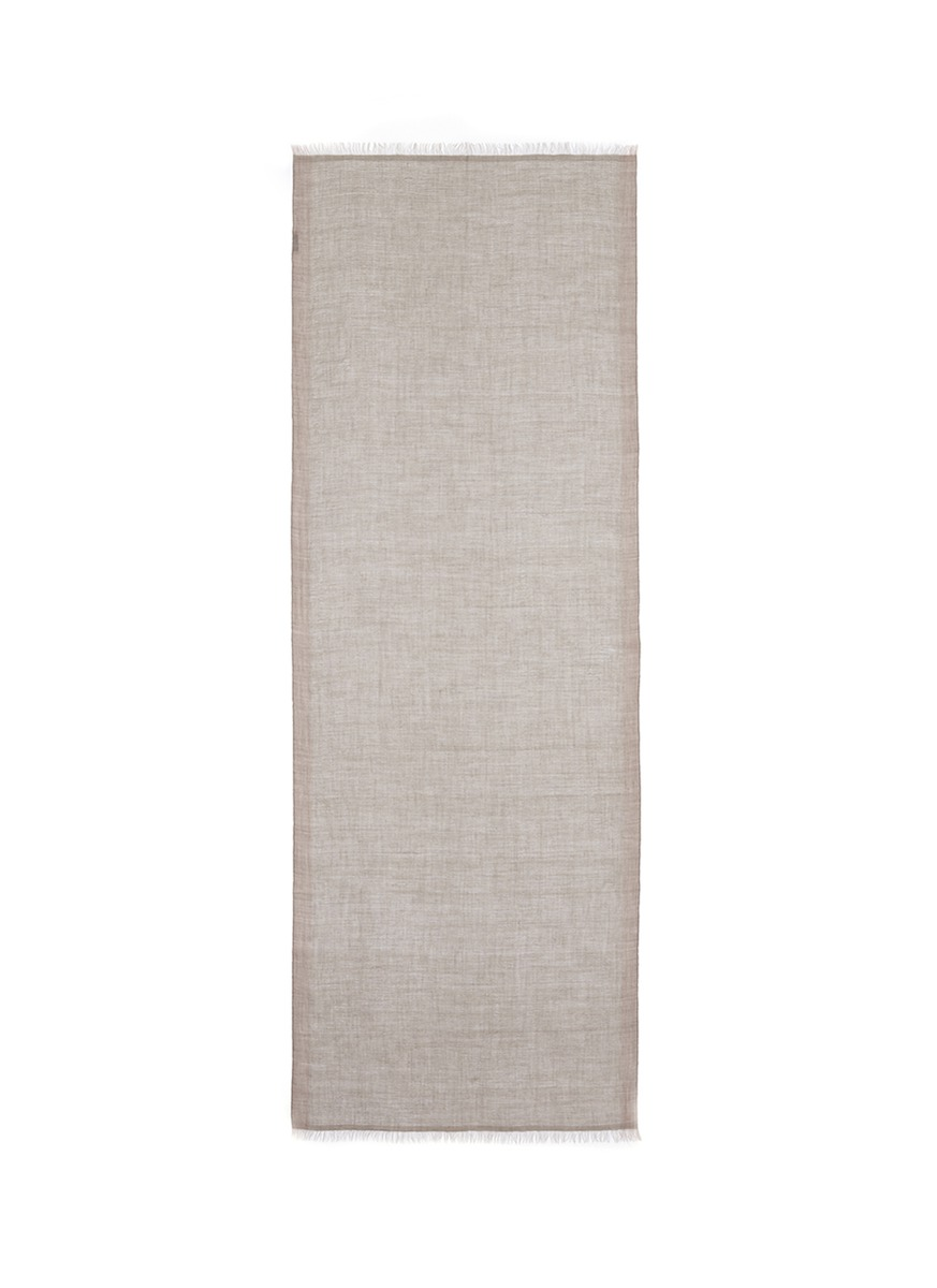 Metallic trim cashmere scarf by Kashmirloom