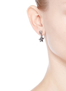 Valentino Orchid Rockstud engraved earrings