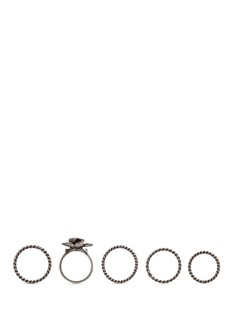 Valentino Orchid brass five ring set